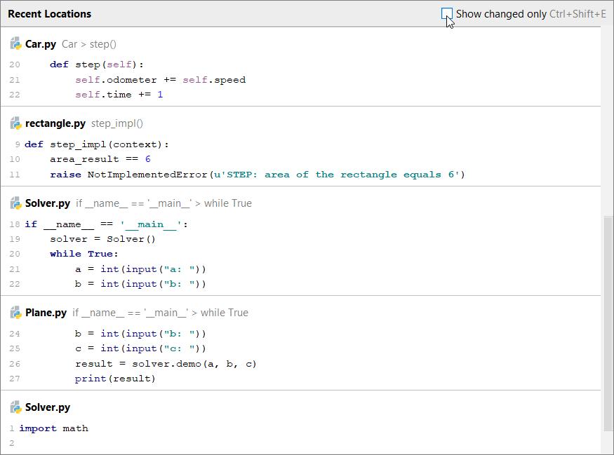 Source code navigation - Help | PyCharm