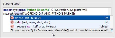 Console  Python Console - Help | PyCharm