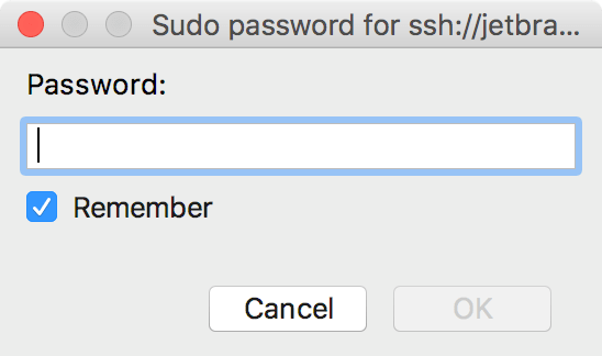 Provide a sudo password
