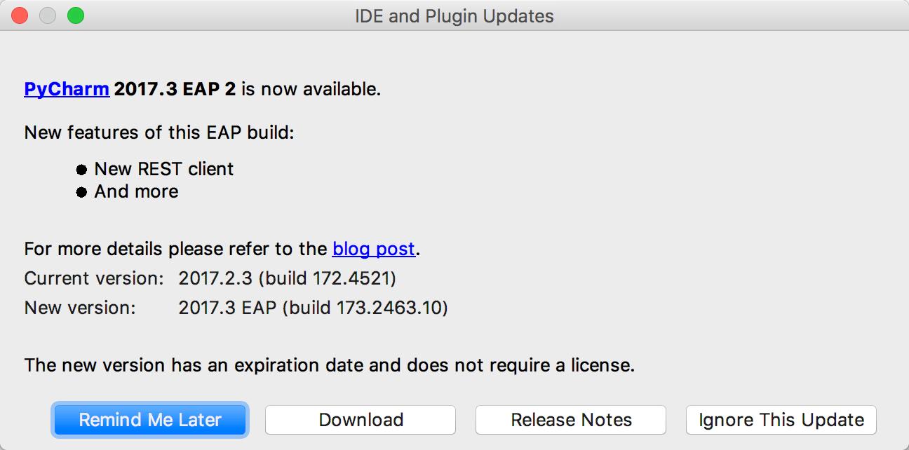 Update PyCharm - Help | PyCharm
