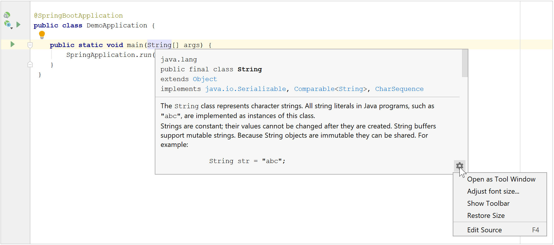 Code reference information - Help | IntelliJ IDEA
