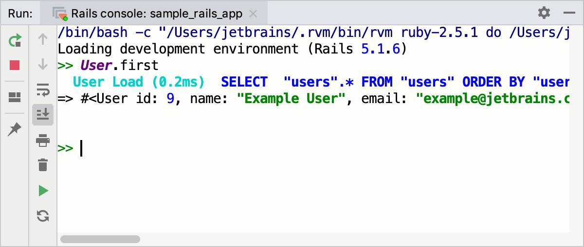 Running Rails Console - Help | RubyMine