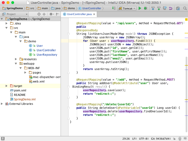 IntelliJ IDEA interface