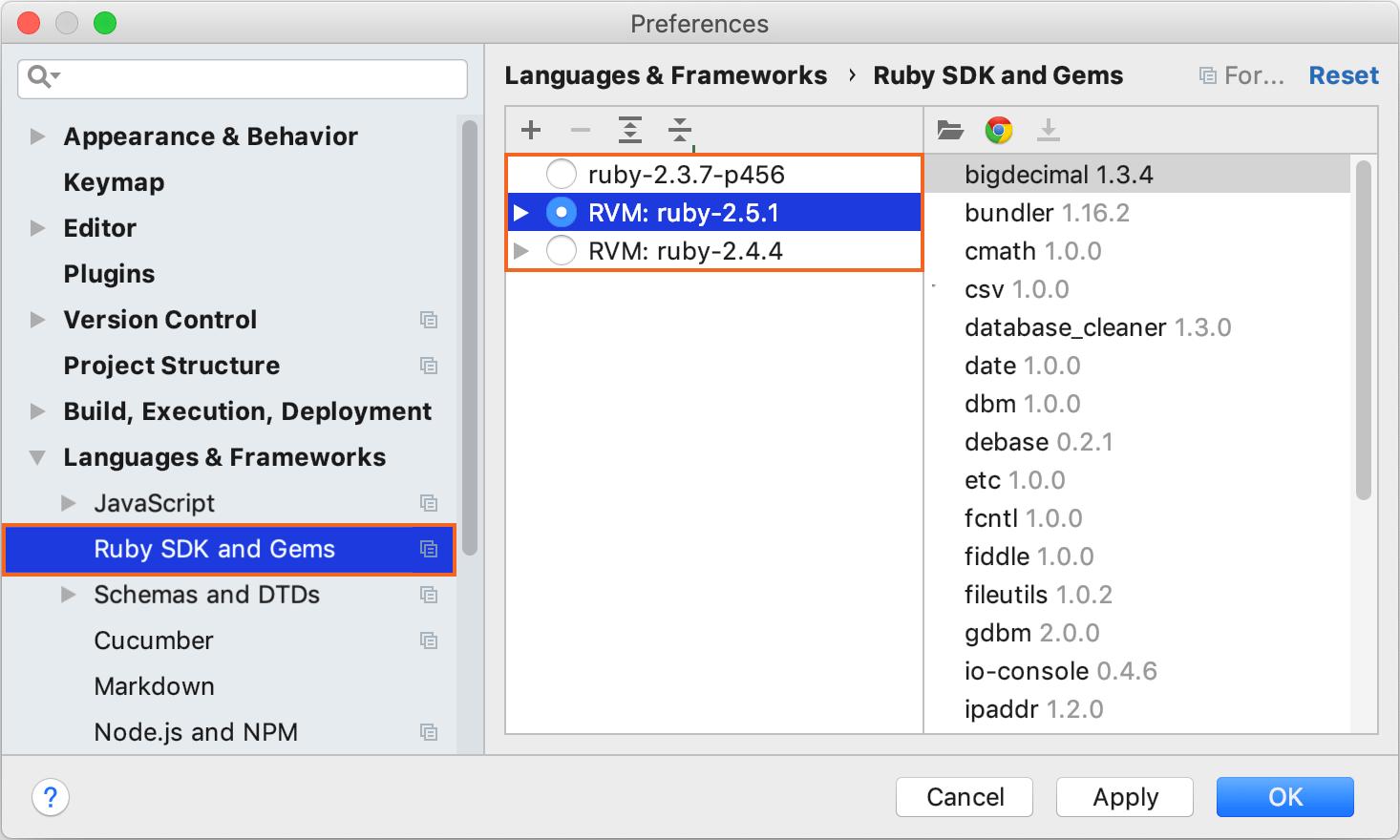 Select Ruby interpreter
