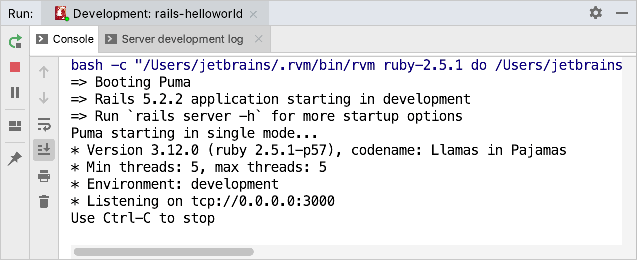 Creating and running your first Rails application - Help