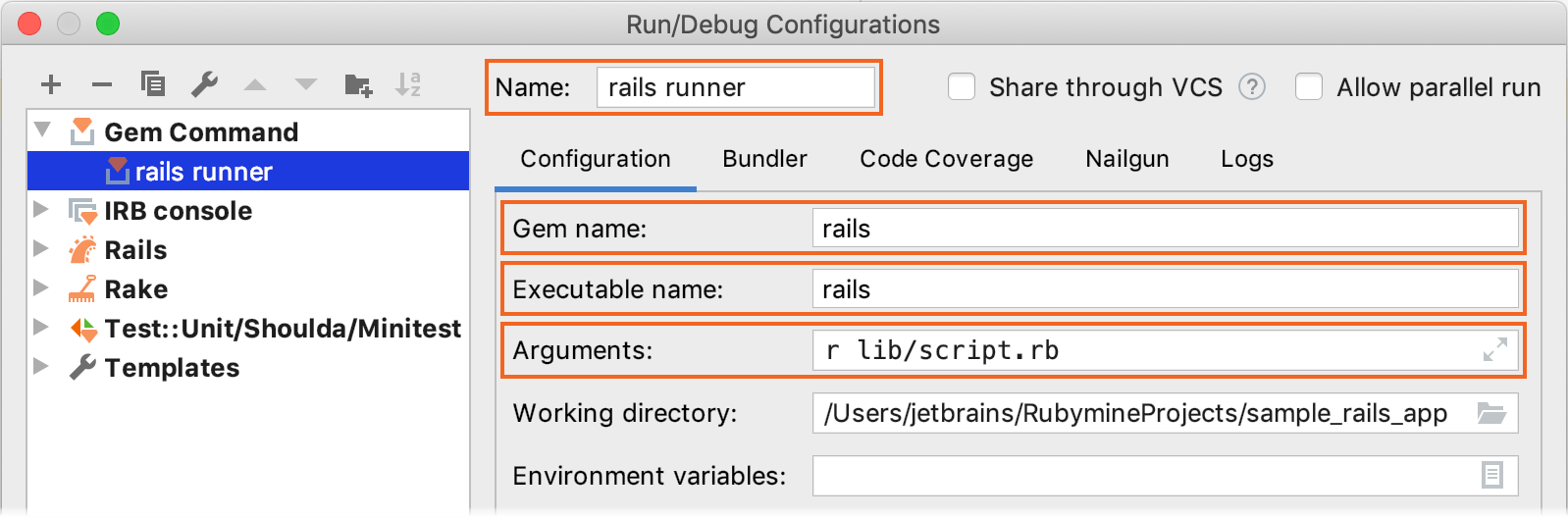 Run/Debug Configuration