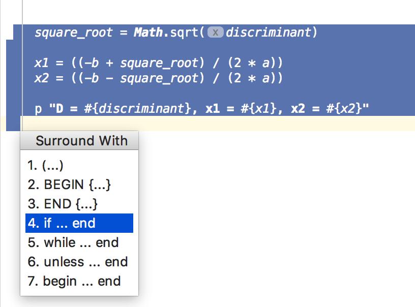 Tutorial: Debug a Ruby Script - Help | RubyMine