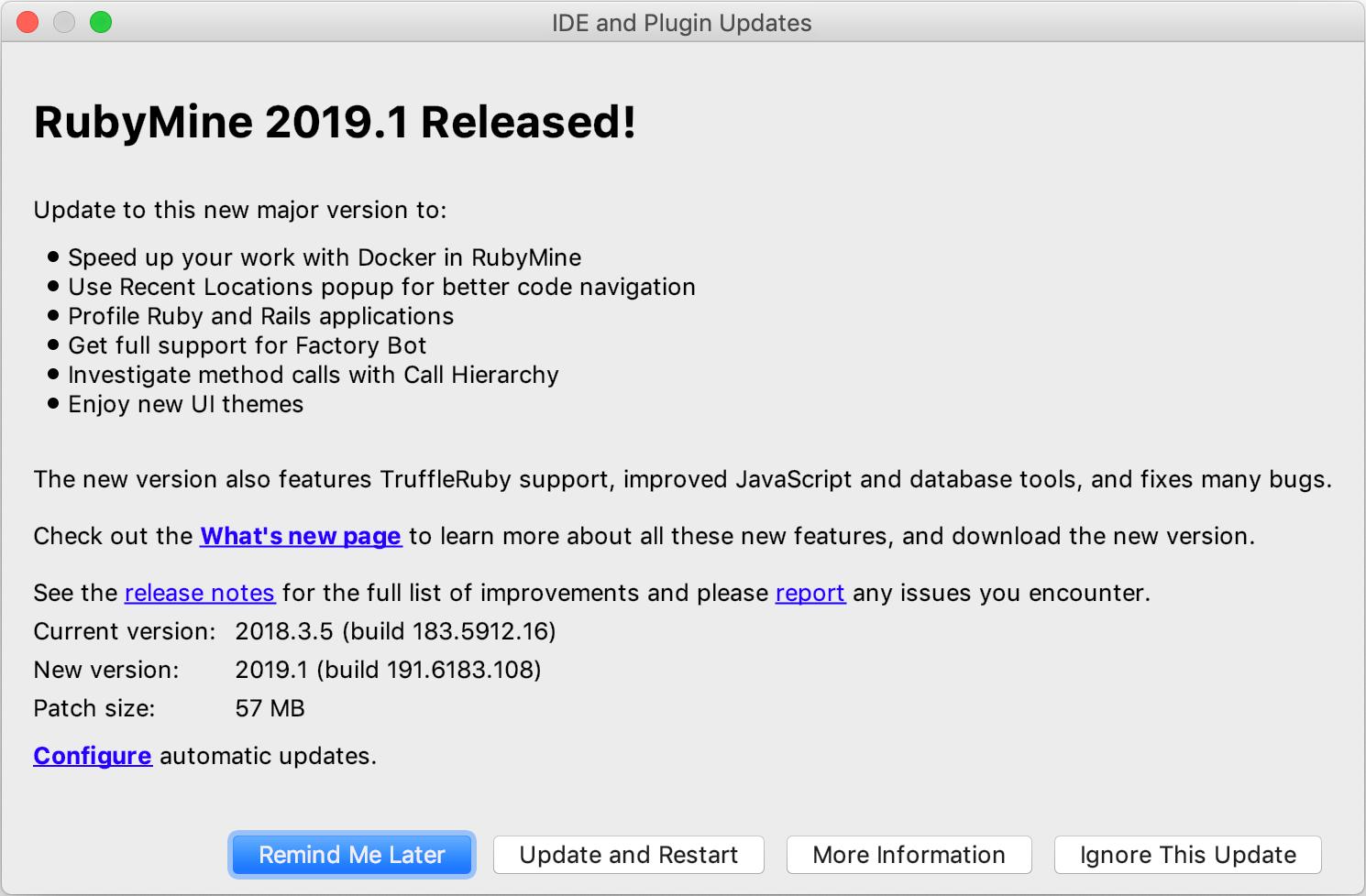 Update RubyMine - Help   RubyMine