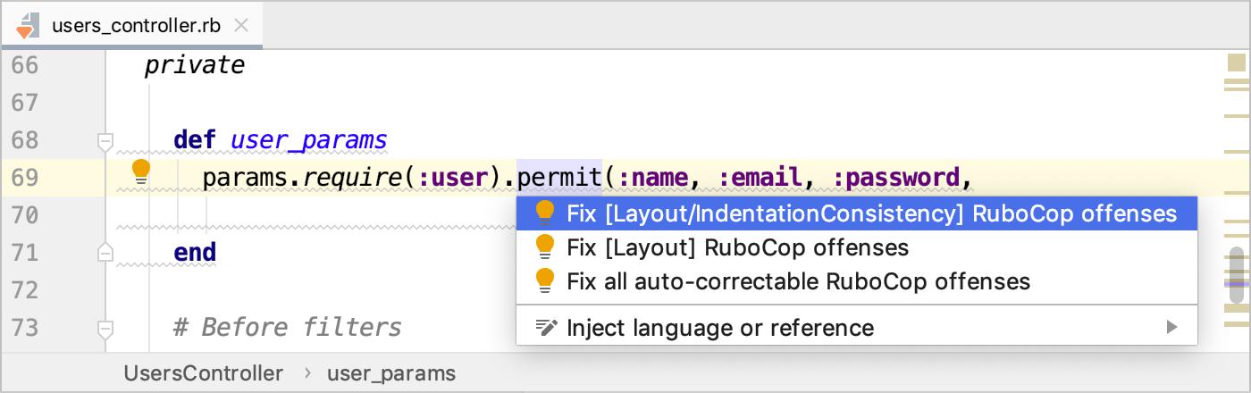 RuboCop - Help | RubyMine