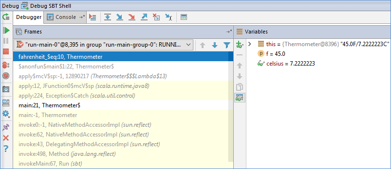 Run, debug and test Scala - Help | IntelliJ IDEA