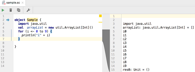 Work with Scala worksheet and Ammonite - Help | IntelliJ IDEA