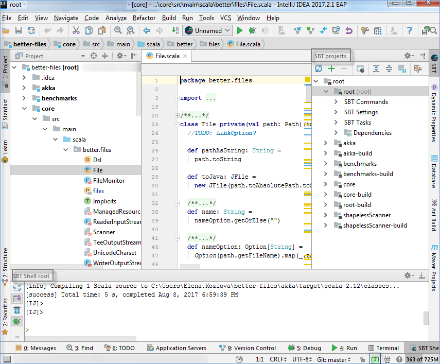 Discover Intellij IDEA for Scala - Help | IntelliJ IDEA