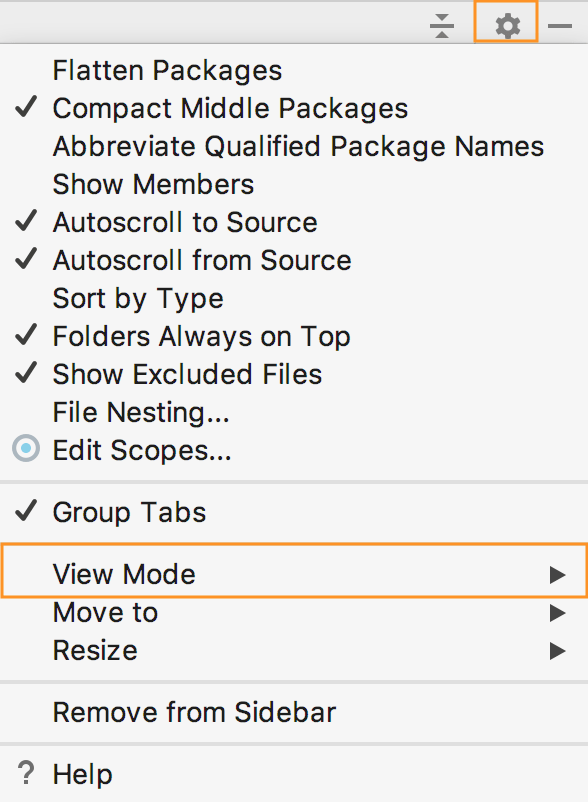 Tool Windows Viewing Modes - Help | IntelliJ IDEA