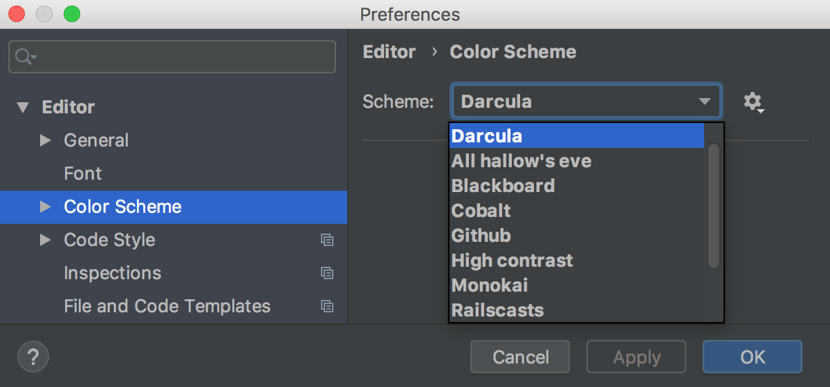 Configuring colors and fonts - Help | WebStorm