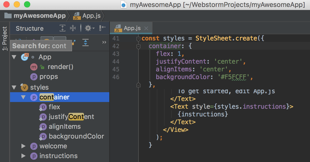 Getting Started with WebStorm - Help | WebStorm