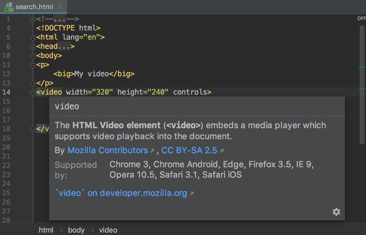HTML - Help | WebStorm