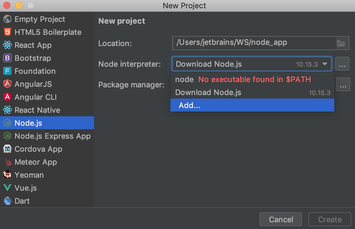 Node js - Help | WebStorm