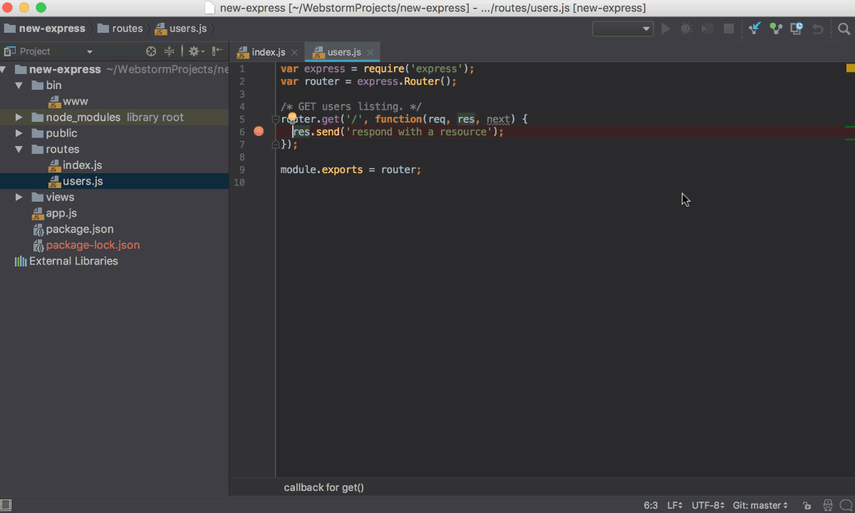 Running and Debugging Node js - Help | WebStorm