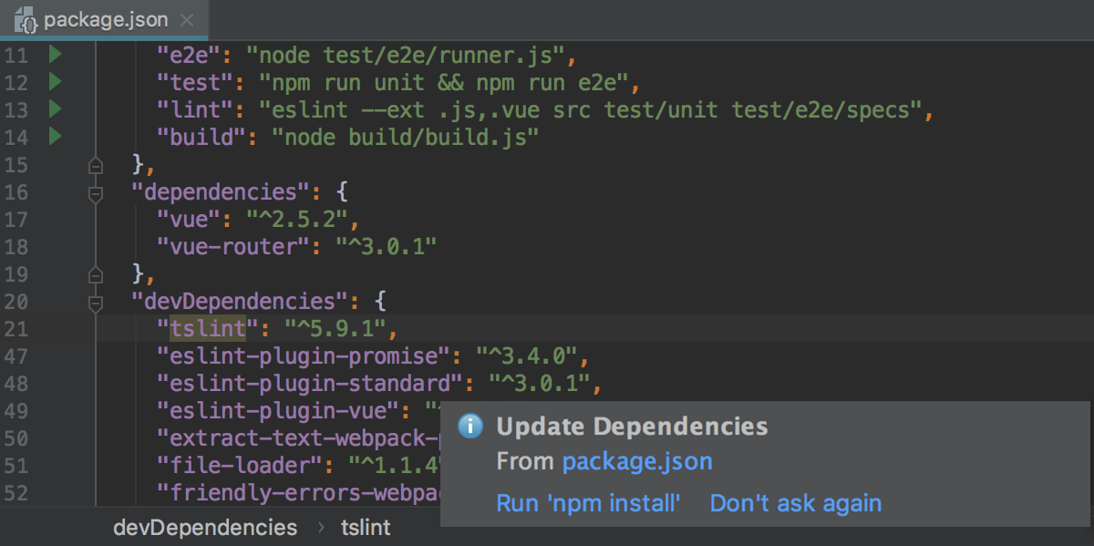 npm and Yarn - Help | WebStorm