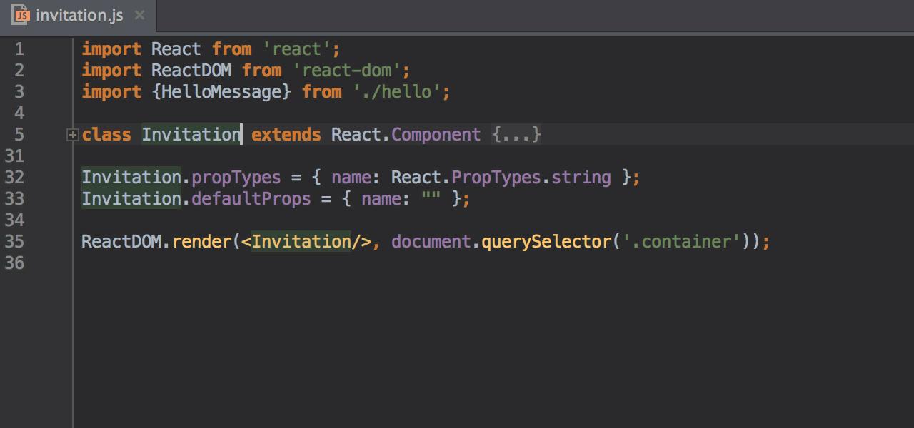 React - Help | WebStorm
