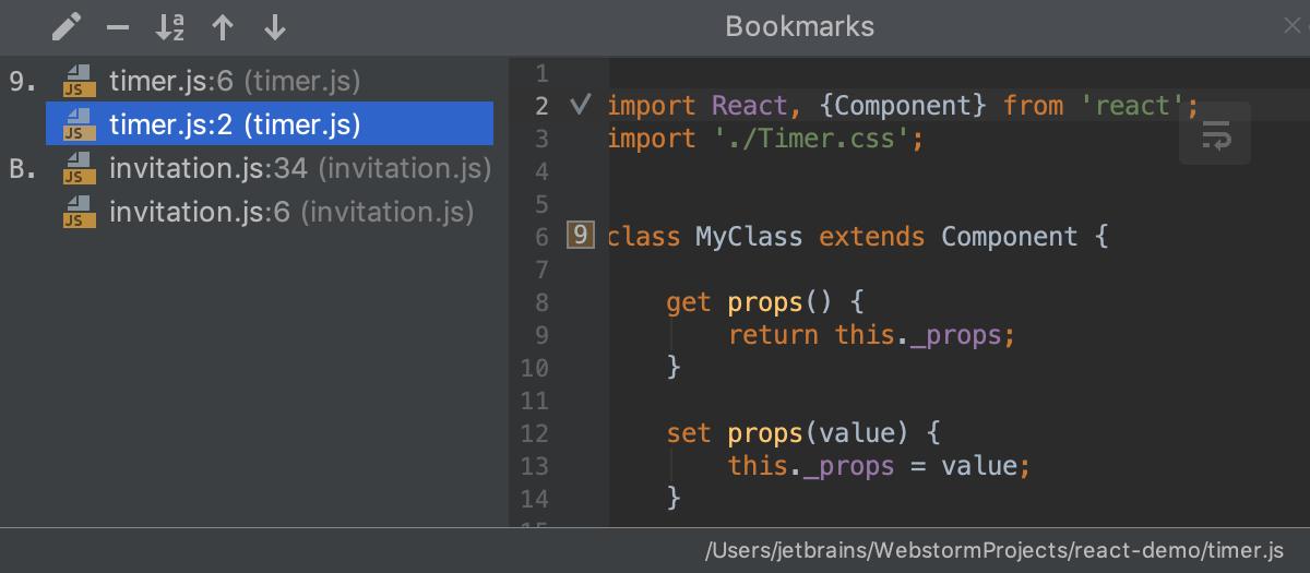 Source code navigation - Help | WebStorm