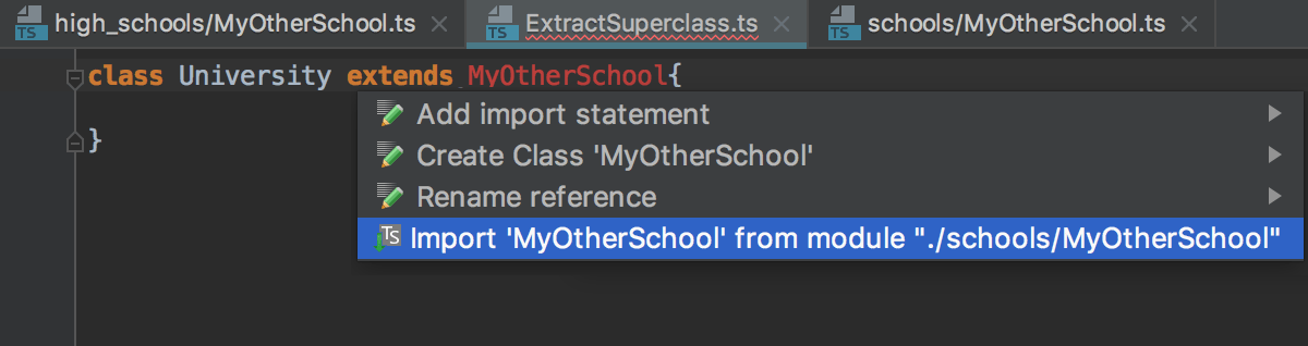 Auto import with suggestion from the TypeScript Language Service: no choices
