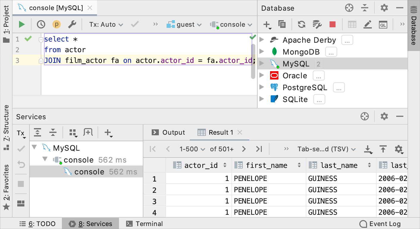 Data editor - Help | IntelliJ IDEA