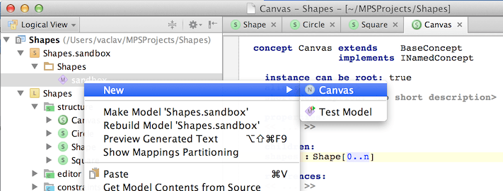 Creating a new Canvas instance