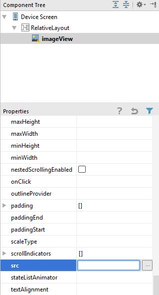 android ui designer add widget source