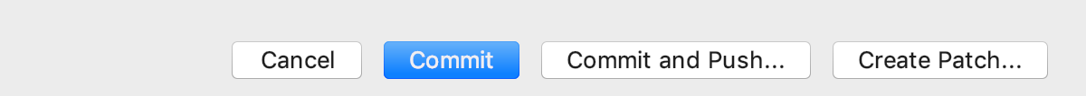 A regular dialog with split buttons