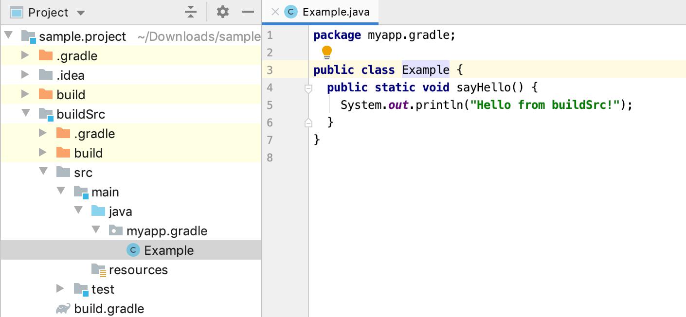 Project tool window: buildSrc
