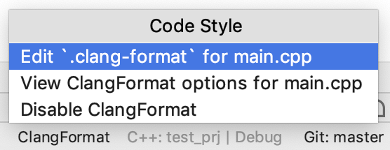 switch to clang-format file