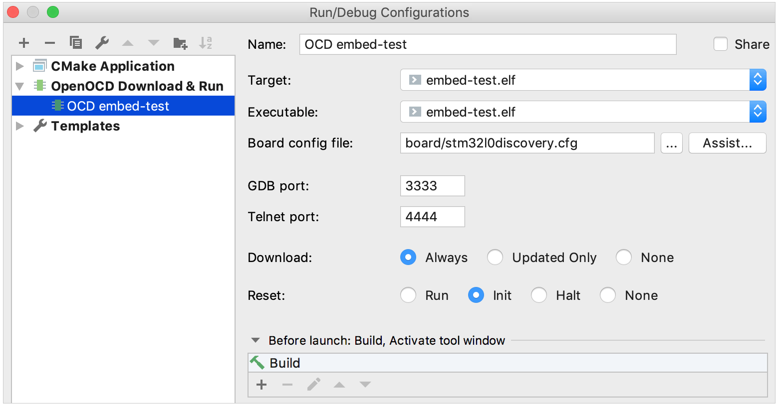 openocd run-debug configuration