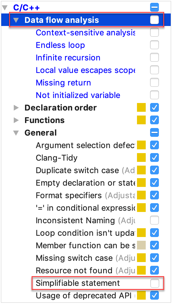 disable performance-consuming inspections