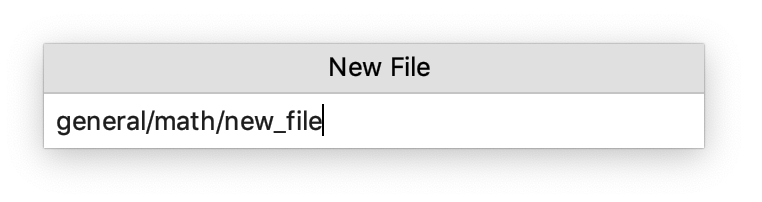 Creating a new file with nested directories