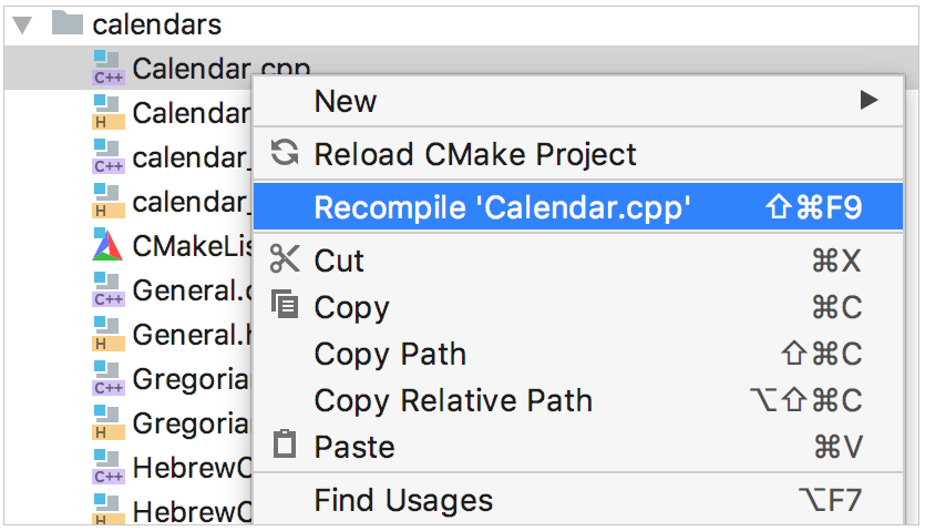 Recompile from the right-click menu