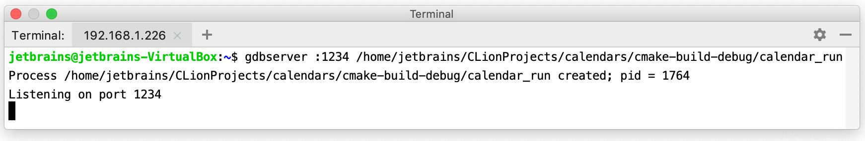 GDB Remote Debug - Help   CLion