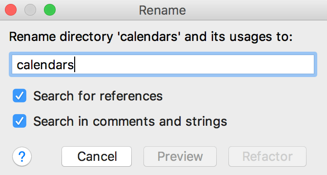 Rename a directory