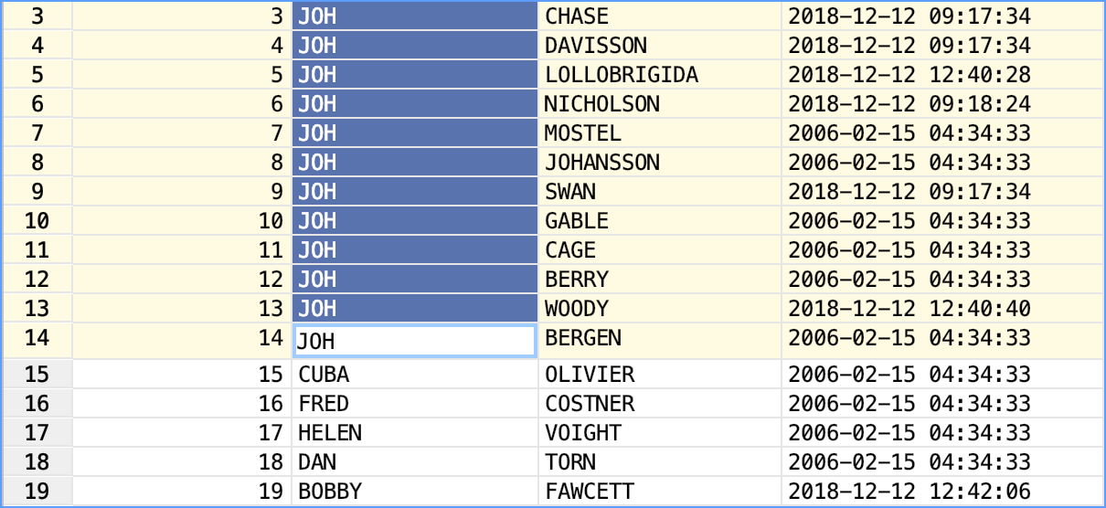 Edit multiple cell values