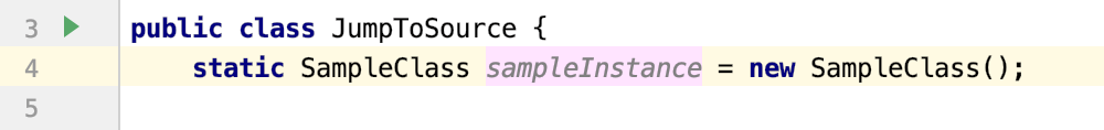 Jump to Source takes you to the place where the variable is declared