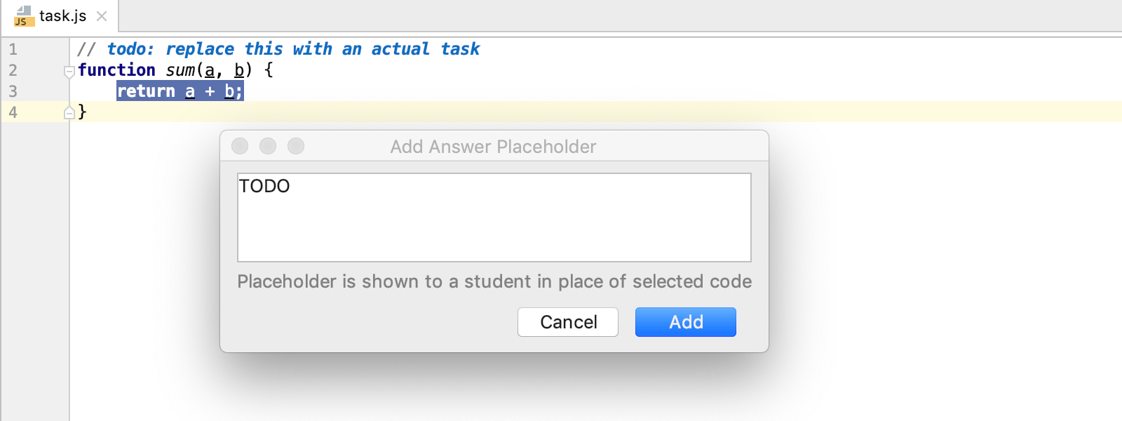 edu answer placeholder js