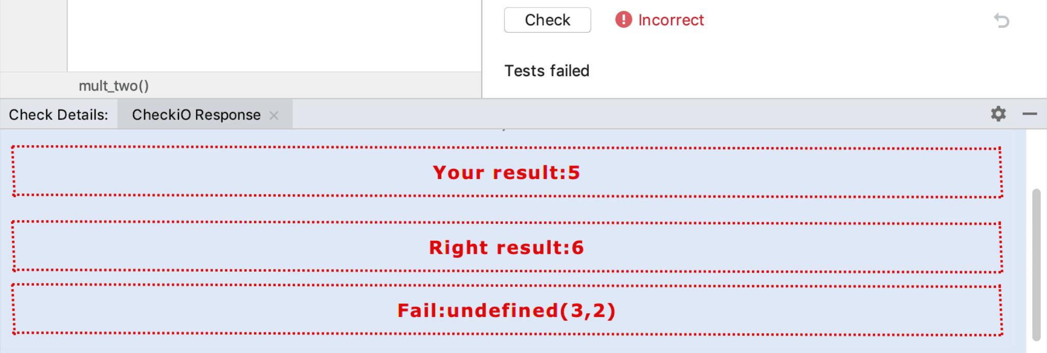 edu checkio incorrect js