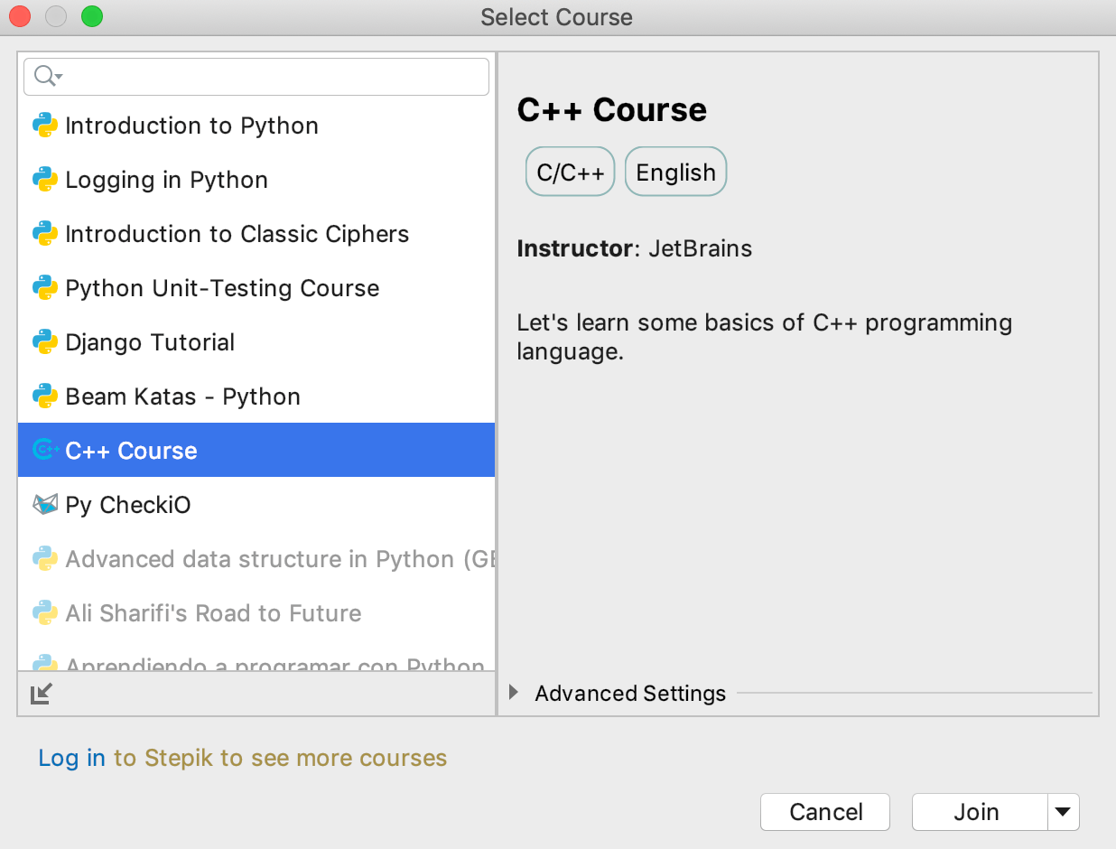 edu course imported cpp