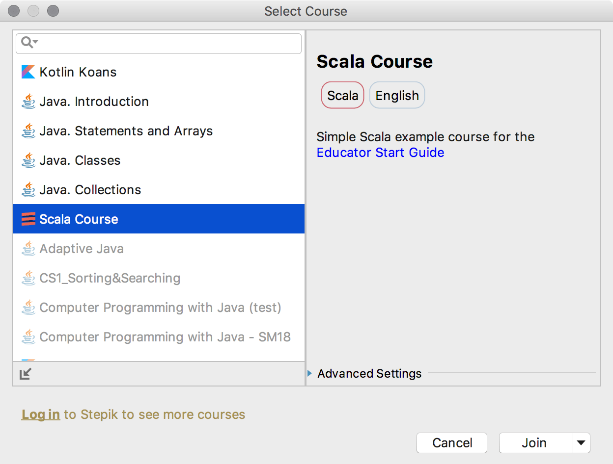 edu course imported scala