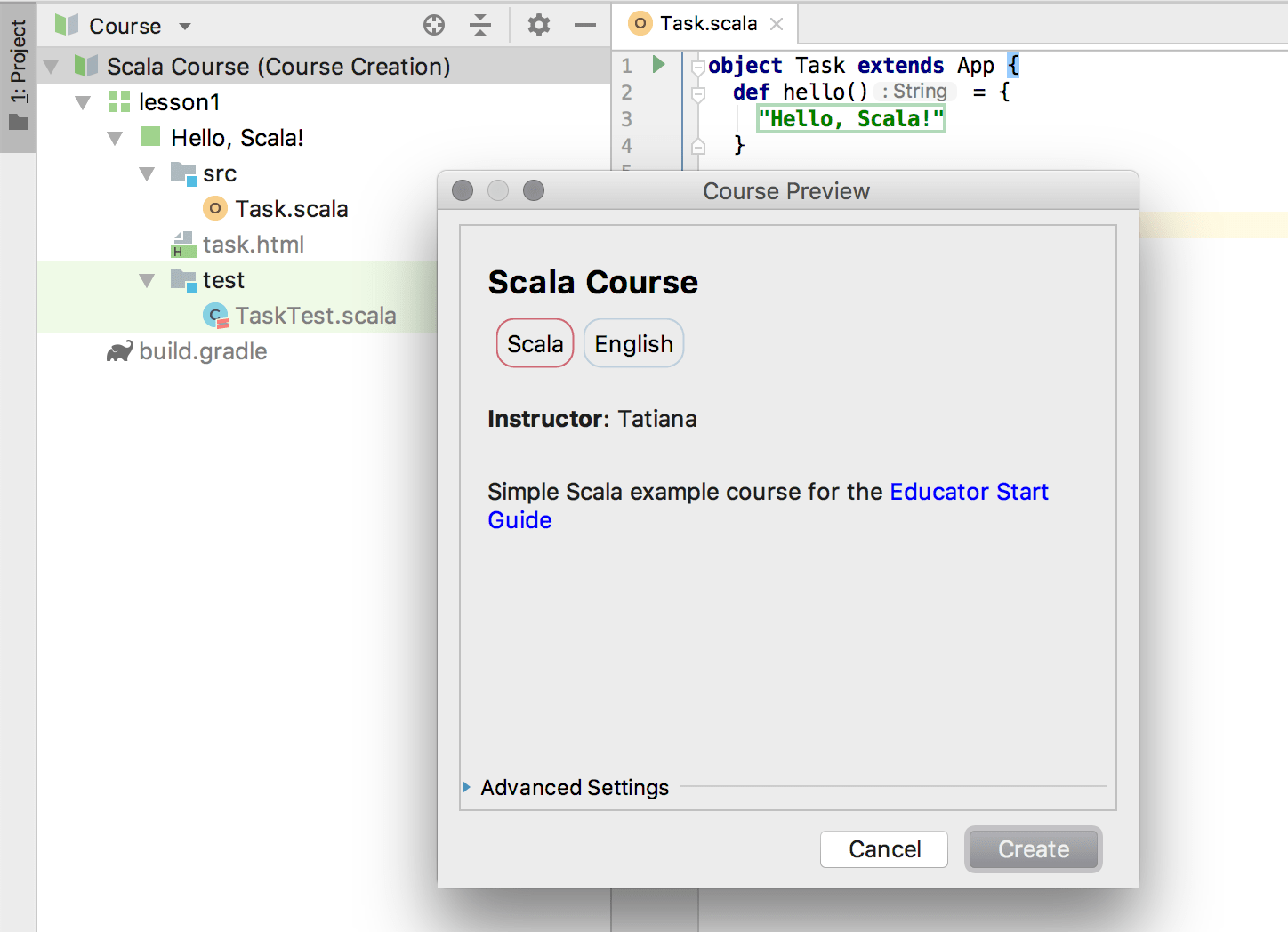 edu course preview scala