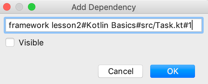 edu framework lesson add dependency kotlin