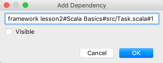 edu framework lesson add dependency scala