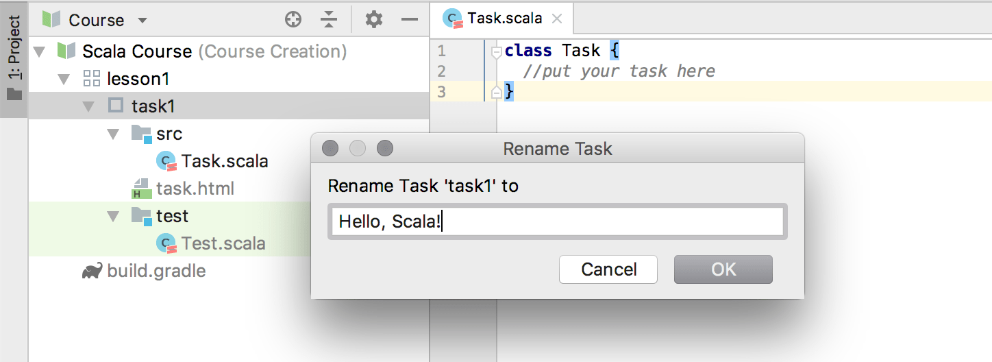 edu rename task scala