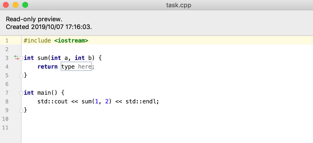 edu task preview cpp