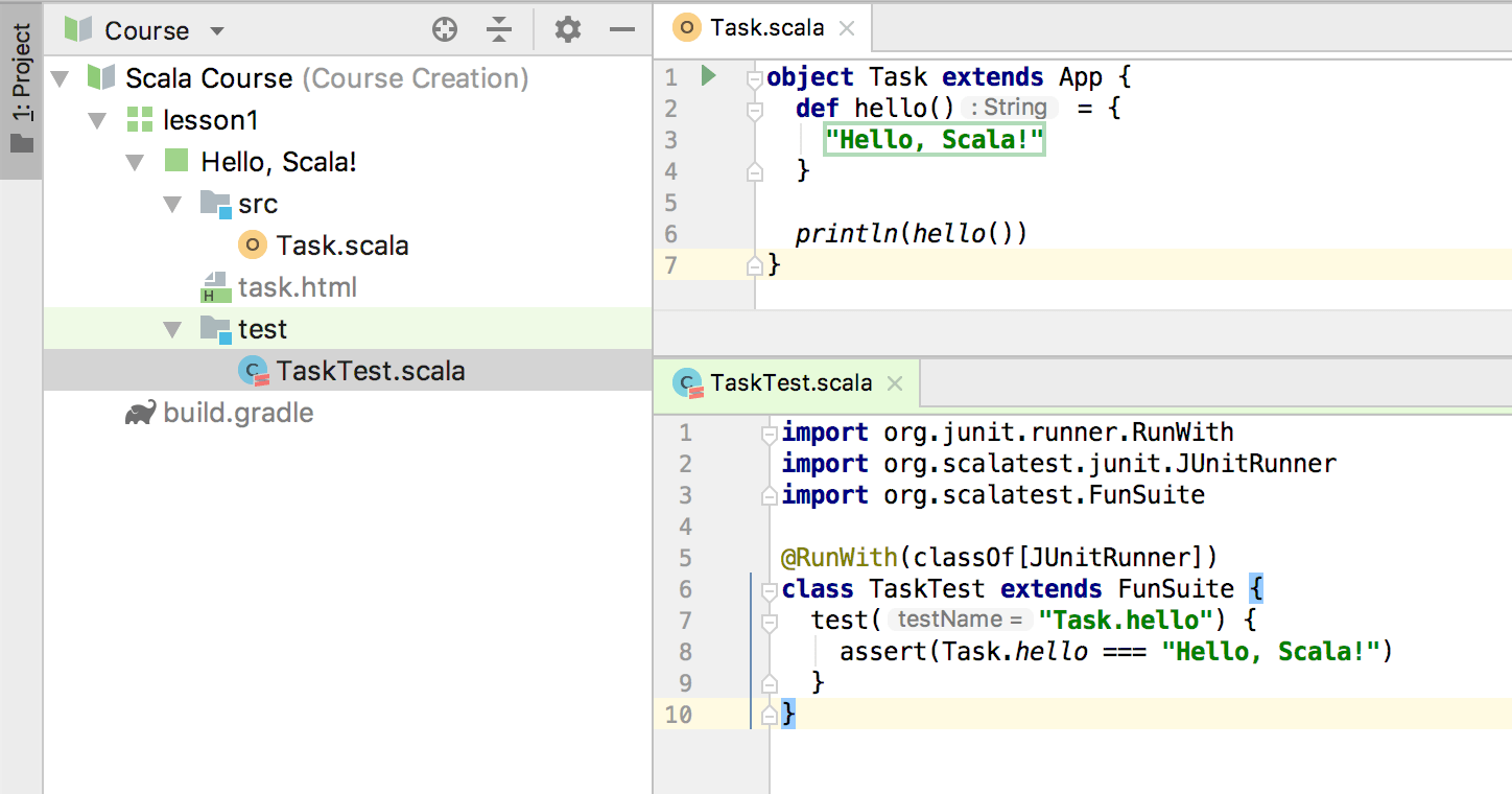 edu test code scala